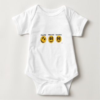 Sleep Well - Think Lucky - Spend Wisely Baby Bodysuit