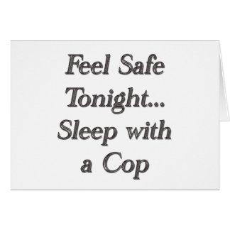 sleep with a cop card