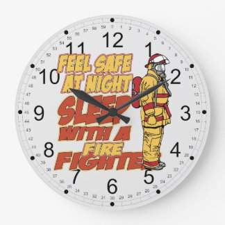 Sleep with a Firefighter Large Clock