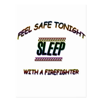 SLEEP WITH A FIREFIGHTER POSTCARD