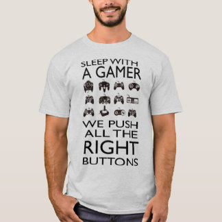 SLEEP WITH A GAMER !!! Men's Basic T-Shirt