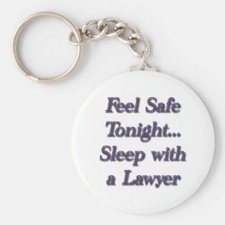 sleep with a lawyer keychains