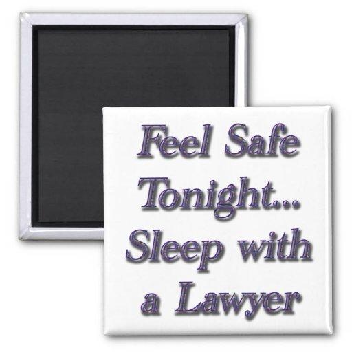 Sleep With A Lawyer Fridge Magnet