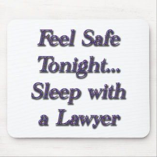 sleep with a lawyer mouse pad