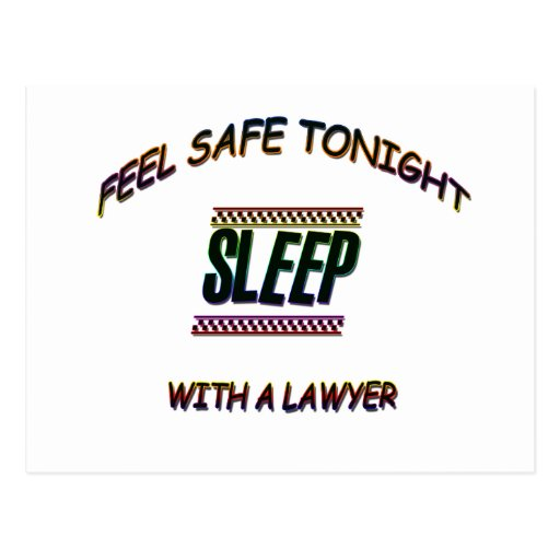 SLEEP WITH A LAWYER POSTCARDS