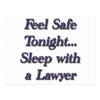 Sleep With A Lawyer Postcard