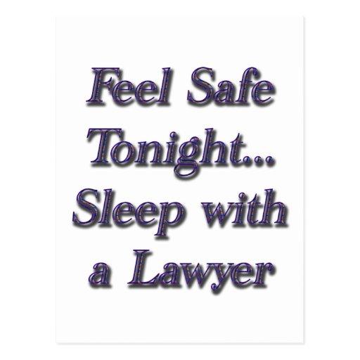 Sleep With A Lawyer Post Card
