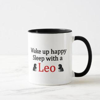 Sleep With a Leo Mug