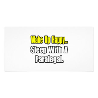 Sleep With a Paralegal Photo Greeting Card