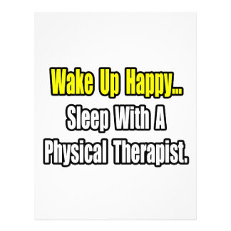Sleep With A Physical Therapist 21.5 Cm X 28 Cm Flyer