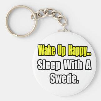 Sleep With a Swede Key Ring