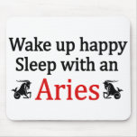 Sleep With An Aries Mouse Pads