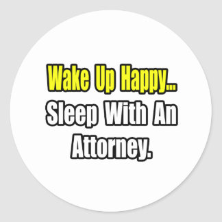 Sleep With An Attorney Stickers