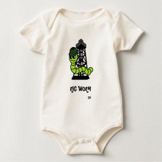 Sleeper Rig Worm Baby Bodysuit