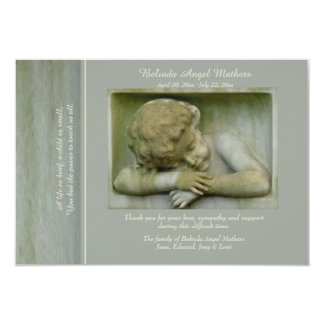 Sleeping Angel Bereavement Thank You Card 9 Cm X 13 Cm Invitation Card