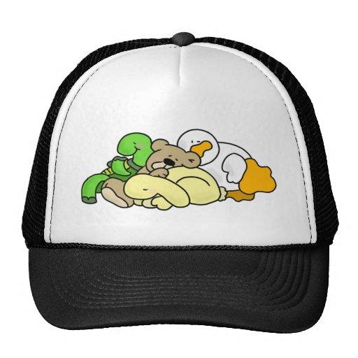 Sleeping Baby Animals Mesh Hats