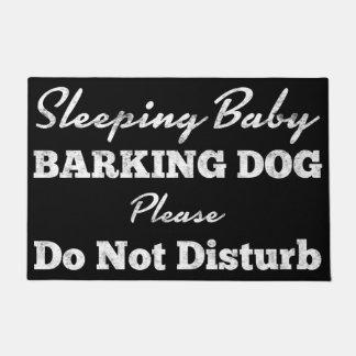 Sleeping Baby Barking Dog Do Not Disturb Doormat