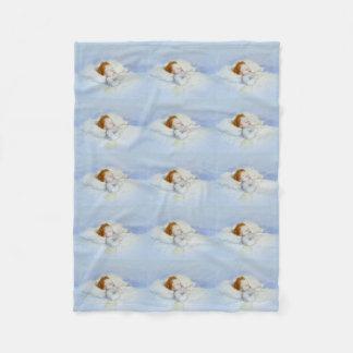 Sleeping Baby Boy Fleece Blanket