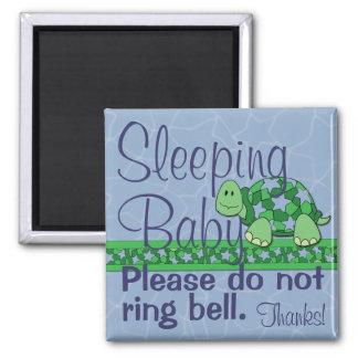 Sleeping Baby Front Door Sign Square Magnet