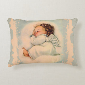 Sleeping Baby Girl Angel Decorative Cushion