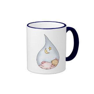 Sleeping Baby Girl Ringer Mug