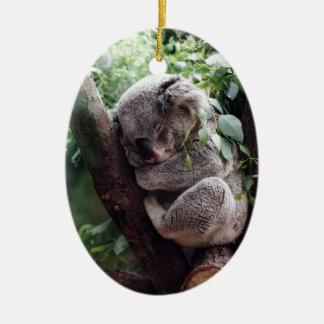 Sleeping Baby Koala Ceramic Ornament