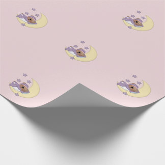 Sleeping Baby Teddy Bear Wrapping Paper