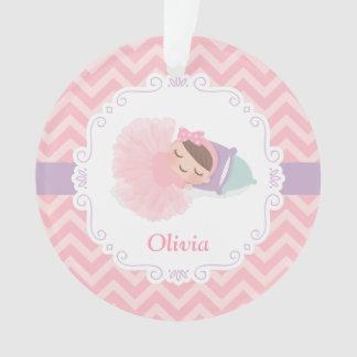 Sleeping Ballerina Baby Girl Personalized Ornament