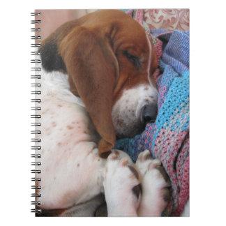 Sleeping Basset Hound Notebook