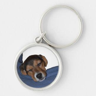 Sleeping Beagle Puppy Keychain