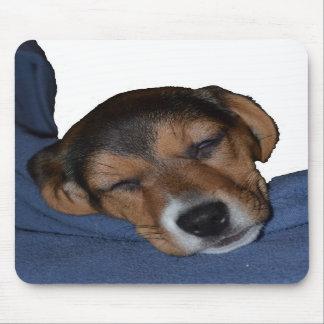 Sleeping Beagle Puppy Mousepad