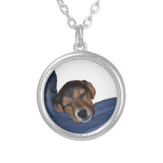 Sleeping Beagle Puppy Necklace