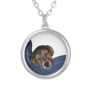 Sleeping Beagle Puppy Necklace