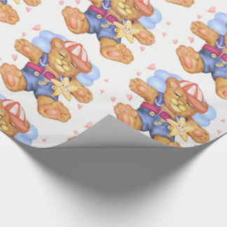 """SLEEPING BEAR BABY  30"""" x 30'    Wrapping Paper"""