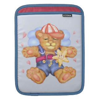 SLEEPING BEAR BABY CARTOON iPad Vertical iPad Sleeve