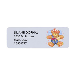 SLEEPING BEAR BABY CARTOON Return Address Labels