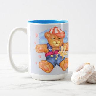 SLEEPING BEAR BABY CARTOON Two-Tone Mug