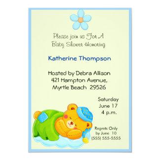 Sleeping Bear Baby  Shower Invitation