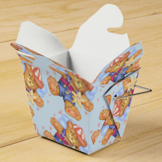 SLEEPING BEAR BABY  Take Out Favour Box