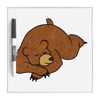 sleeping bear cartoon Dry-Erase boards