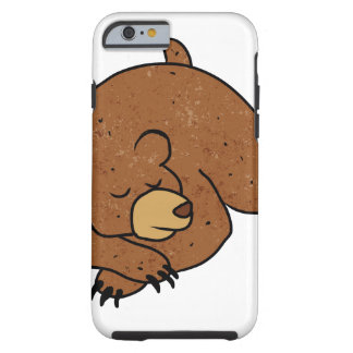 sleeping bear cartoon tough iPhone 6 case
