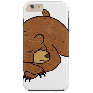 sleeping bear cartoon tough iPhone 6 plus case