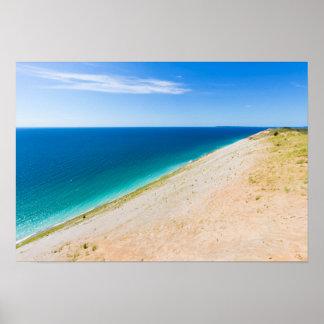 Sleeping Bear Dunes, Lake Michigan Poster