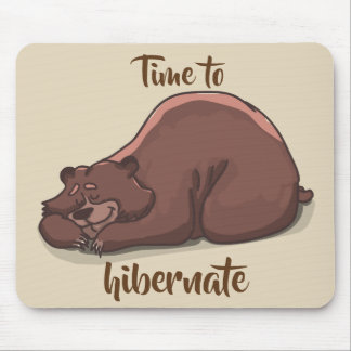 Sleeping Bear// Time To Hibernate Mouse Pad