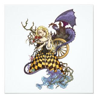 Sleeping Beauty 13 Cm X 13 Cm Square Invitation Card