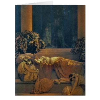 Sleeping Beauty 1912 Big Greeting Card