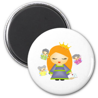 Sleeping Beauty 6 Cm Round Magnet