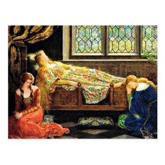 Sleeping Beauty artwork Postcard