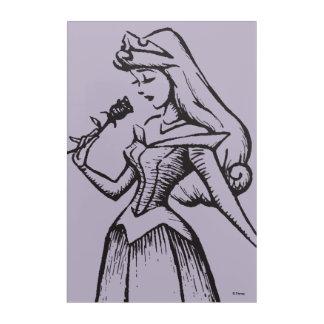 Sleeping Beauty | Aurora - Vintage Rose Acrylic Print