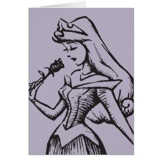 Sleeping Beauty | Aurora - Vintage Rose Card
